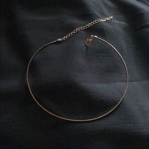 Gold choker solid circle never worn
